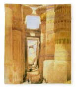 Temple Of Karnak  Fleece Blanket
