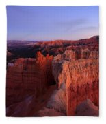 Temple Of The Setting Sun Fleece Blanket