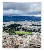 Temple Of Zeus - View From The Acropolis Fleece Blanket