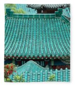 Temple Roofs Fleece Blanket