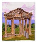 Temple Ruins At Ephesus Fleece Blanket