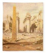 Temple Ruins  Fleece Blanket