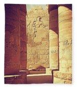 Temples Of Karnak  Fleece Blanket