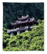 Temples Of Tam Coc Vietnam  Fleece Blanket