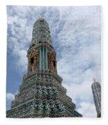 Temples, Thailand Fleece Blanket