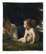 Temptation By William-adolphe Bouguereau Fleece Blanket