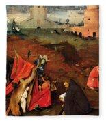 Temptation Of Saint Anthony, Right Wing Fleece Blanket