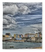 Tenby Harbour Texture Effect Fleece Blanket