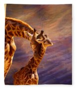 Tenderness Painted Fleece Blanket