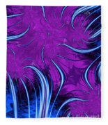 Tendrils Through The Mists Of Time Fleece Blanket