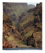 Tenerife Coastline Fleece Blanket