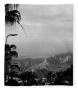 Tenerife Mountains Fleece Blanket