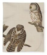 Tengmalm's Owl Fleece Blanket