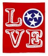 Tennessee Flag Love Fleece Blanket