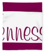 Tennessee In White Fleece Blanket