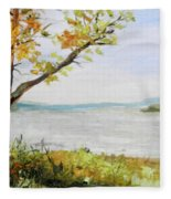Tennessee River In The Fall Fleece Blanket