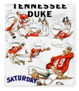 Tennessee Versus Duke 1955 Football Program Fleece Blanket