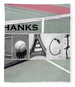 Tennis Coach Alphabet Art Fleece Blanket