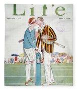 Tennis Court Romance, 1925 Fleece Blanket