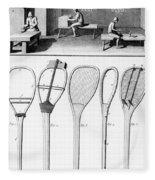 Tennis Rackets Fleece Blanket