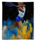 Tenniswoman 57 Fleece Blanket