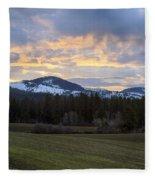 Tensed Dawn Fleece Blanket