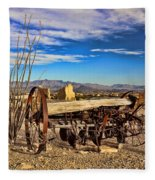 Terlingua Ghost Town 2 Fleece Blanket