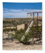 Terlingua Ghost Town #5 Fleece Blanket