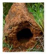 Termite Mound In Brazil Fleece Blanket