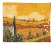 terra di Siena Fleece Blanket