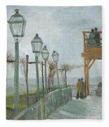 Terrace And Observation Deck At The Moulin De Blute Fin Fleece Blanket