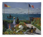 Terrace At Sainte-adresse Fleece Blanket