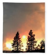 Terrace Mountain Fire 2  Fleece Blanket