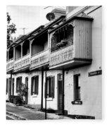 Terraced Houses - Black And White By Kaye Menner Fleece Blanket