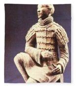 Terracotta Soldier Fleece Blanket