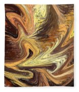 Terrestrial Fire Abstract Fleece Blanket