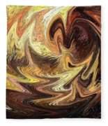 Terrestrial Flames Abstract  Fleece Blanket