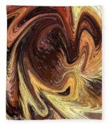 Terrestrial Vortex Abstract Fleece Blanket
