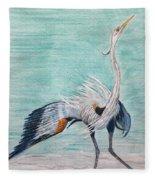 Terri's Heron Fleece Blanket