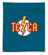 Tesla Bolt Fleece Blanket