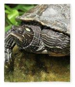 Tess The Map Turtle #2 Fleece Blanket