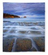 Tesselated Sunset Fleece Blanket