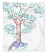 Tesselated Tree Fleece Blanket