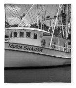 Moon Shadow Working Boat Fleece Blanket