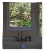 Window Over The Sink Fleece Blanket