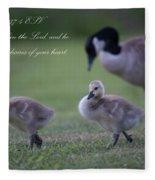 Psalm 37 Fleece Blanket