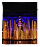 Fountain At Union Station Fleece Blanket
