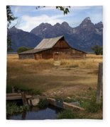 Teton Barn 2 Fleece Blanket