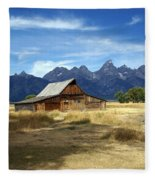 Teton Barn 3 Fleece Blanket