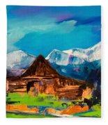 Teton Barn  Fleece Blanket